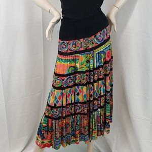 Carole Little Vintage Boho Maxi Skirt